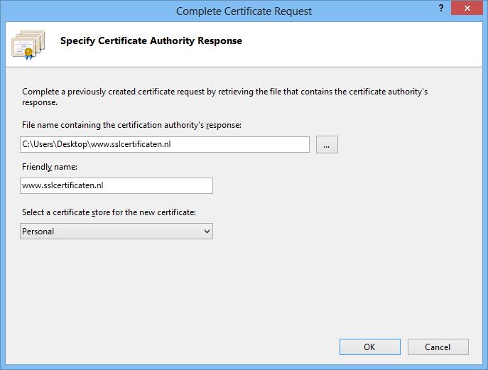 Iis Certificate Installation