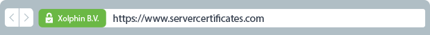 EV certificate with green address bar